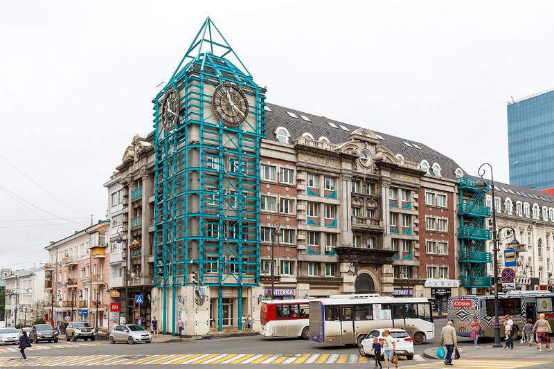Clock tower frame