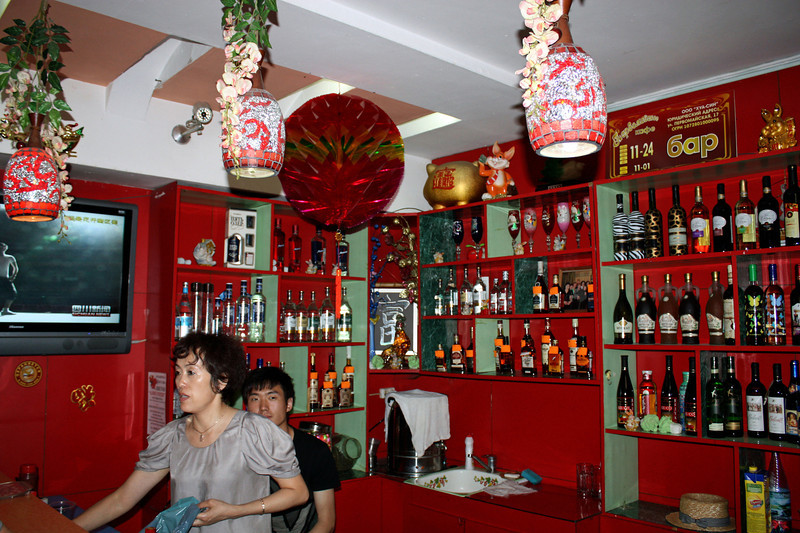 Interior of another of Li Lihua's restaurants.