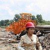 Li Lihua at one of her construction sites.