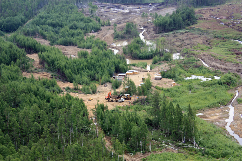 Petropavlovsk's Malomir gold mine from above.