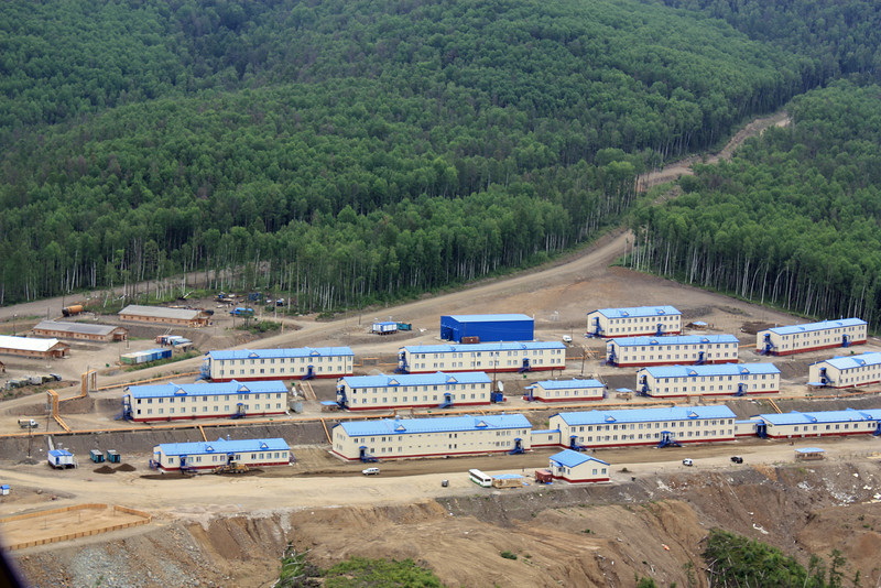 Housing for workers at Petropavlovsk's Malomir gold mine.