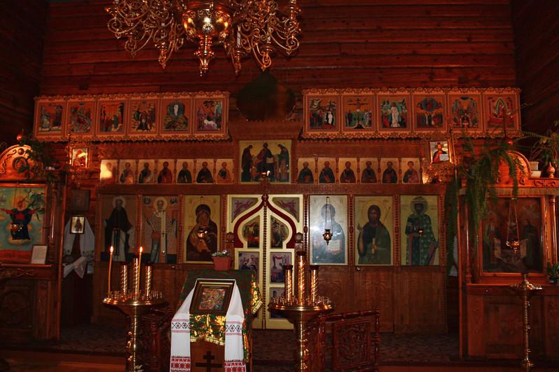 Church iconostasis.