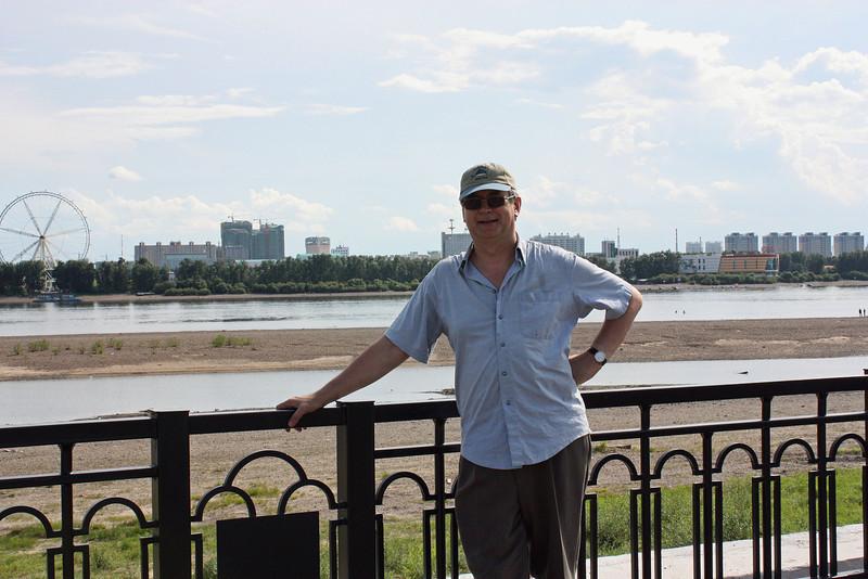 Safronov on the banks of the Amur River.