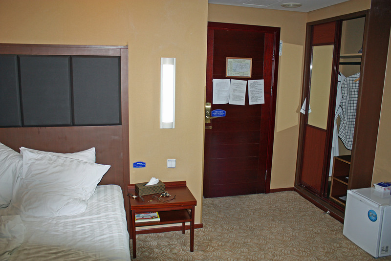 Simple accommodations at the Asia Hotel in Blagoveshchensk.