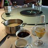 First stop in Heihe - food, of course. In this restaurant you cook your own food in boiling pots placed on the table.