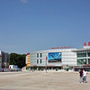 A large plaza in Heihe.