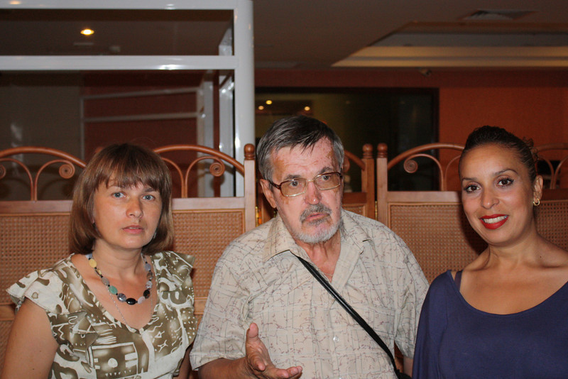 Wafaa with Maya & Boris Chernikh. Майя и Борис Черных.
