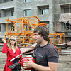 Alice & Andrey at one of Li Lihua's construction sites. Aside from her restaurants, she builds apartment complexes.