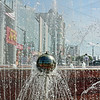 Blagoveshchensk through the fountain.