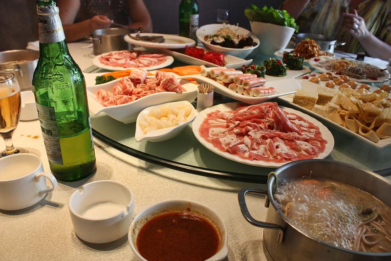Food in Heihe restaurant.