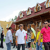 Chinese tourist visiting the Russian village in Heihe.