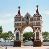 The Triumphal Arch in Blagoveshchensk. Built in 1891 to welcome the then Crown Prince Nicholas who was to become the last Tsar of Russia. Триумфальная арка, Благовещенск.
