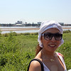 Rusiya Al-Yaum correspondent, Wafaa Daoui on the banks of the Amur River in Blagoveshchensk.