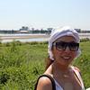 Rusiya Al-Yaum correspondent, Wafaa Daoui on the banks of the Amur River in Blagoveshchensk.