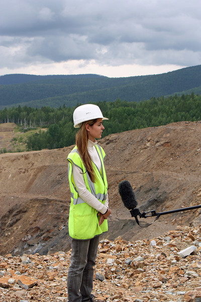Jana Kirienko at the Malomir mine.