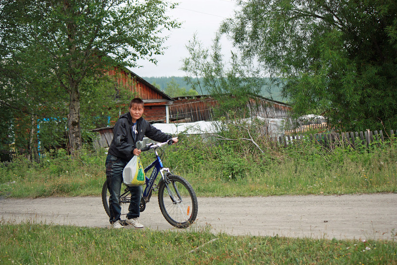 Biker in  Ivanskoye.