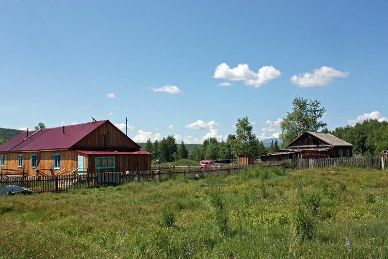 Homes on the outskirts of Ivanskoye village.