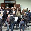 After prayer. На выходе из Бишкекской мечети после пятничной молитвы.