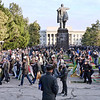 Milling around Lenin, getting ready to pray. What would Lenin think of all this?
