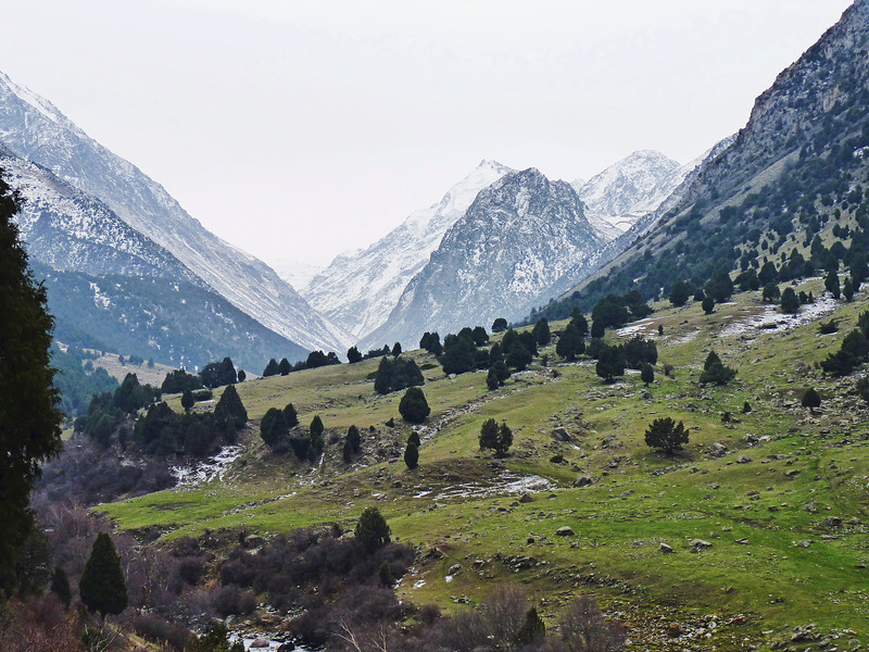 It may look like the Alps, but it's Kyrgyzstan.