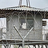 Guard tower at the U.S. airbase.