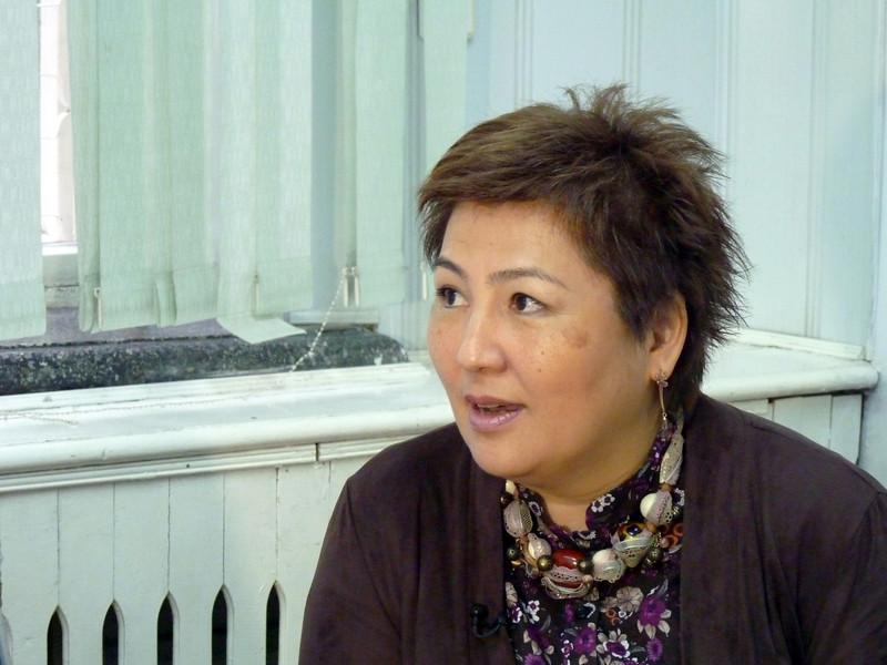 Gulnara Ibraeva, sociologist & professor at the American University. Гульнара Ибраева, социолог и преподаватель, Американского университета.