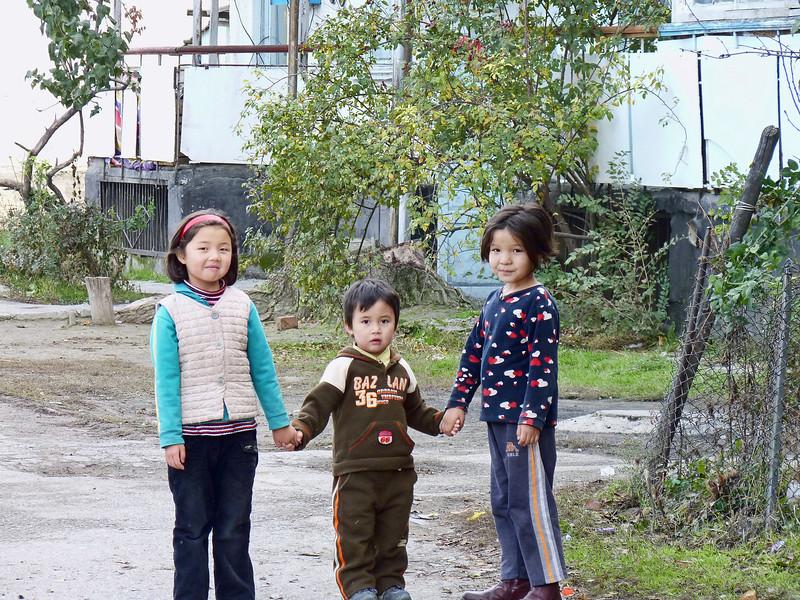 Kids in a village near the U.S. airbase.