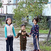 Kids in a village near the U.S. airbase.