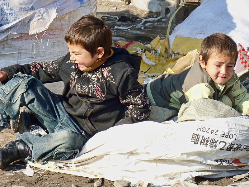 Kids in the market.