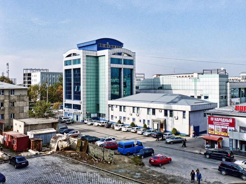 New construction in Bishkek.