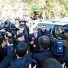 Journalists rushing presidential contender, Almazbek Atambaev.
