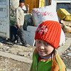 Girl in the market. Most of the people, including children, who work in the market are migrants from southern Kyrgyzstan where there's little work.  Девчонка с рынка Дордой.