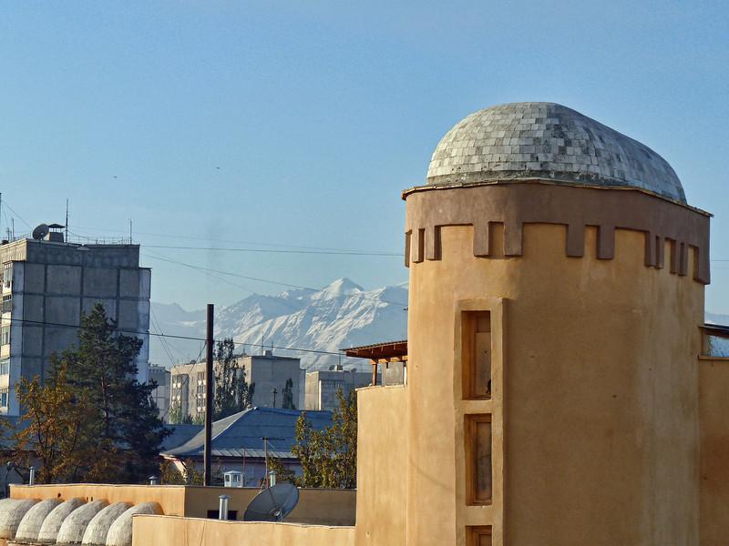 View of Bishkek from my hotel window.