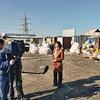 "Guljamal Sultanalieva being interviewed by Russiya Al-Yaum,. Гулджамал Султаналиева даёт интервью телеканалу ""Русия Аль - Яум"""