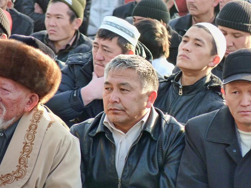 Men at the Festival of Sacrifice (Kurban-Ait).