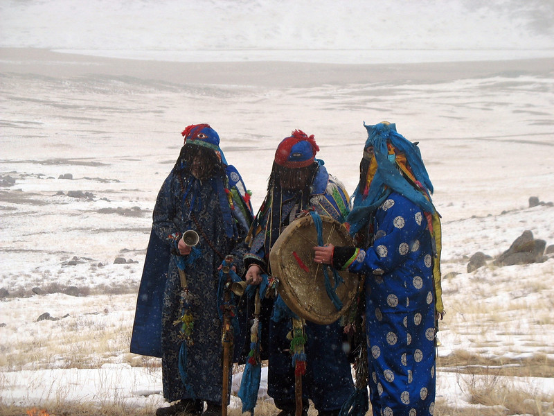Shamans on the steppe.