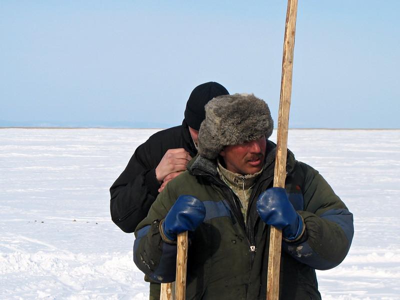 Buryat fishermen.