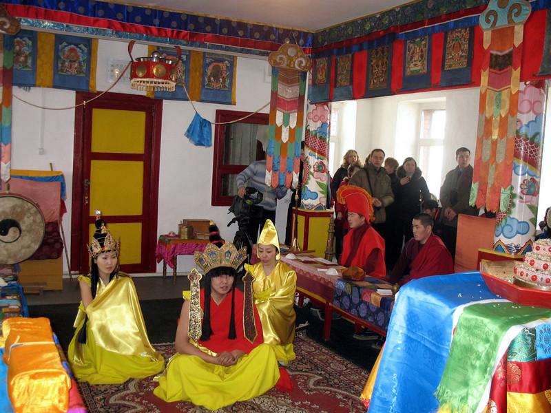 Ceremony at Atsagat Datsan. (Atsagat, Russia)