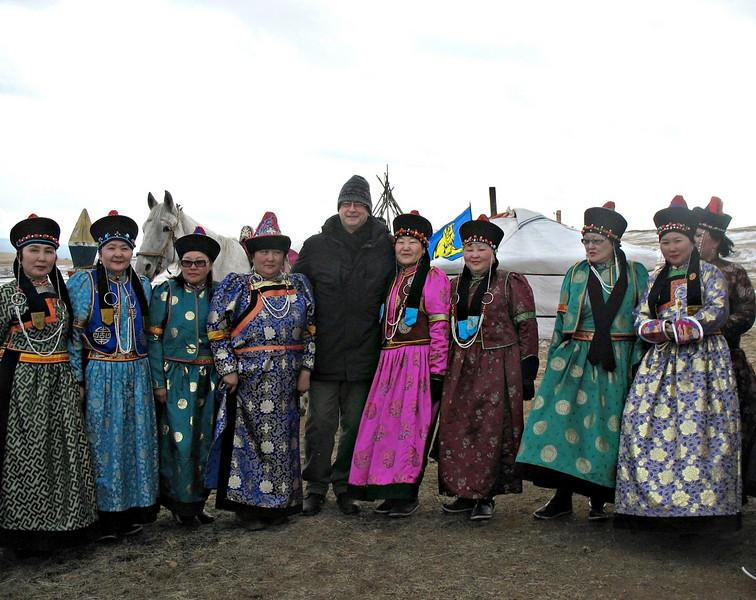 Rustem with Buryat women.