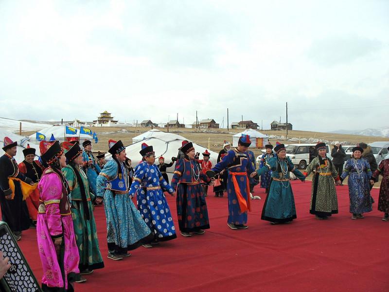 Dancing in national dress. (Buryatia, Russia)