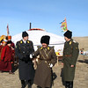 Cossacks & Buryats on the steppe. (Buryatia, Russia)