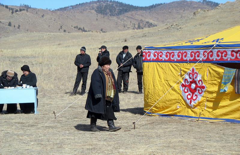 Yurt on the steppe. (Buryatia, Russia)