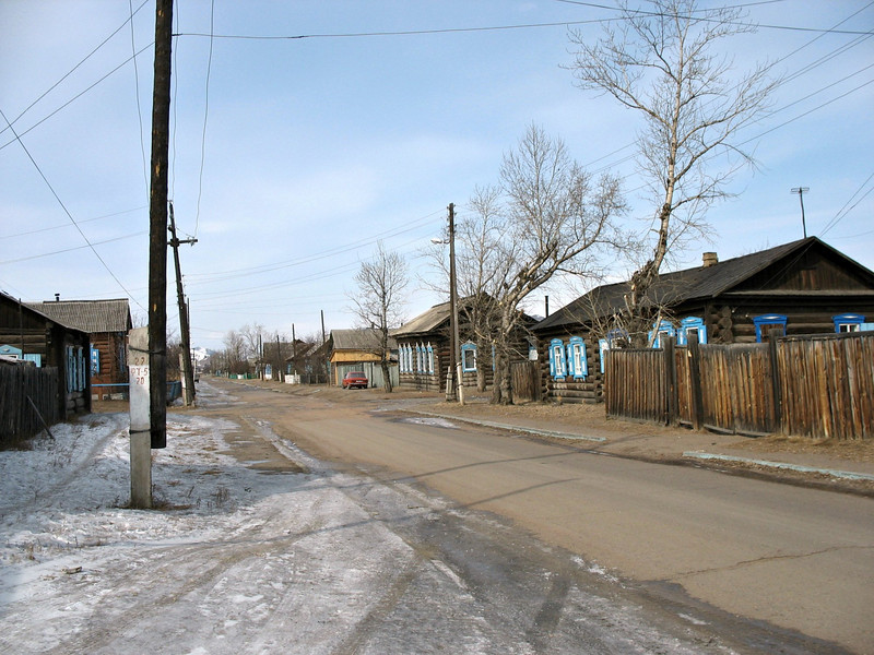Russian village in Buryatia.