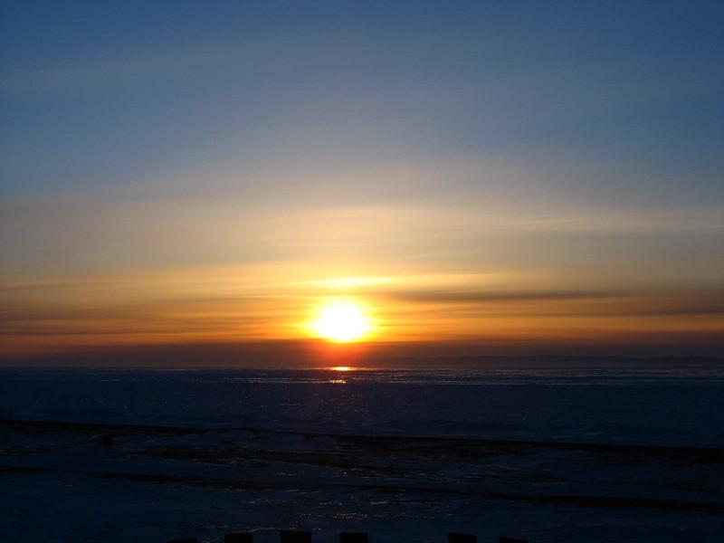 Baikal sunset.