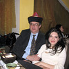 Rustem with Gayene wearing Buryat hat presented to him.