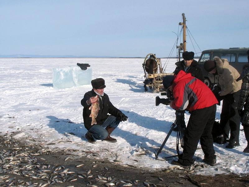 Filming fisherman.