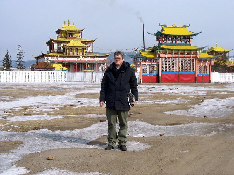 Outside Buddhist Monastery, Ivolginsky Datsan. (Buryatia, Russia)