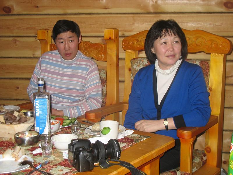 Listening to all the toasts. Baikal vodka awaits all.