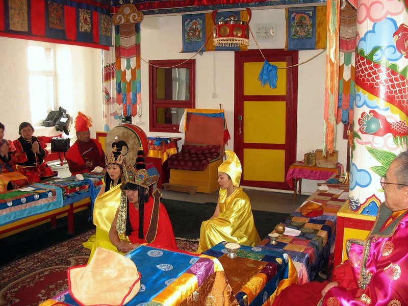Buryat Buddhist ceremony at Atsagat Datsan.