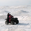 Snowmobiling on Baikal.